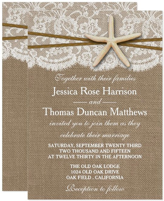 Beach Wedding Invitation_Zazzle_RusticStarfish_001