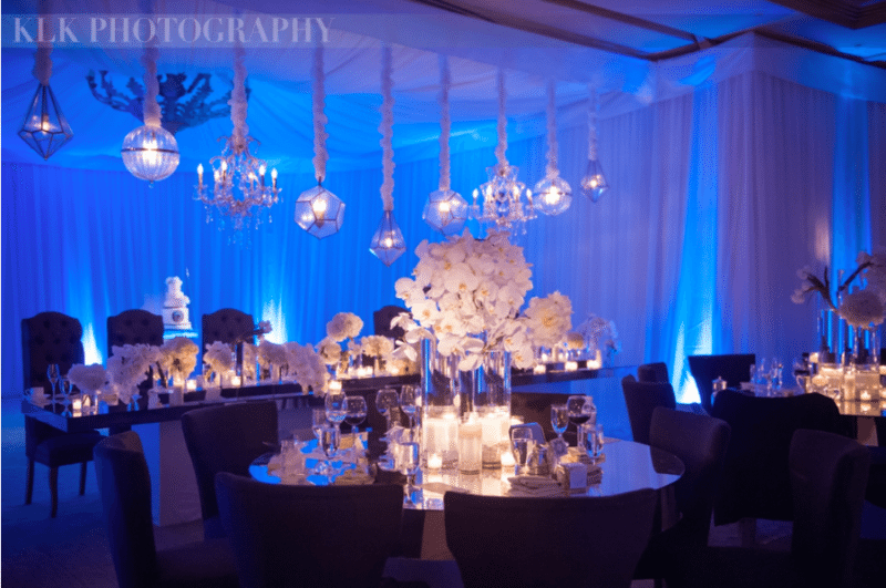 Blue and white complement the season. Image provided by A Good Affair Event Design Photography by LKL Photography