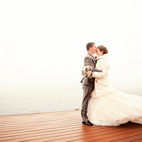 A romantic winter wedding. Image provided by Lake Arrowhead Resort and Spa