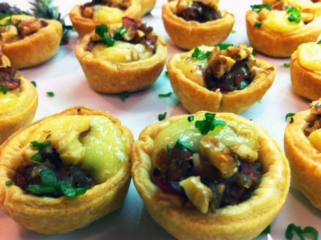 French Brie and Grape Salsa Tartlets - Chef Debby Private Chef