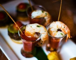 Shrimp cocktail shooters -Catering Ayres Hotel - LAX