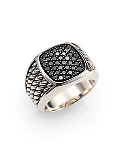 Saks Fitth Ave - David Yurman Sterling Silver and Black Diamond Ring