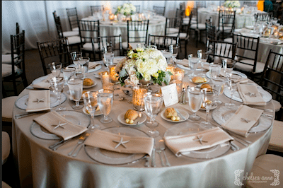 Star Fish Placed On Napkins Add A Nautical Feel. Design: Everafter Events Photography: Chelsea Anne Photography
