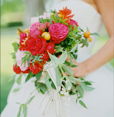 Kumquats Add A Stylish Accent To This Bridal Bouquet. Everafter Events Design