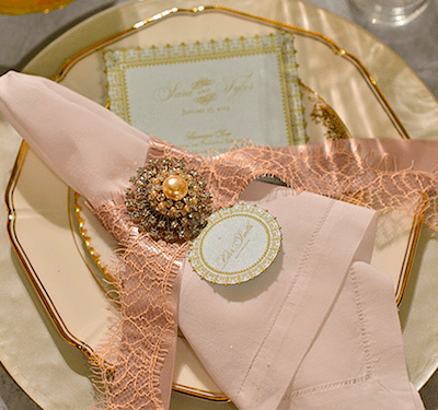 Soft Color And An Antique Looking Decoration Create A Vintage Feeling. Image Provided By White Lilac Event Design