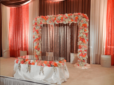 Instantly change a rooms color. Image Provided by The Finishing Touch Wedding Design