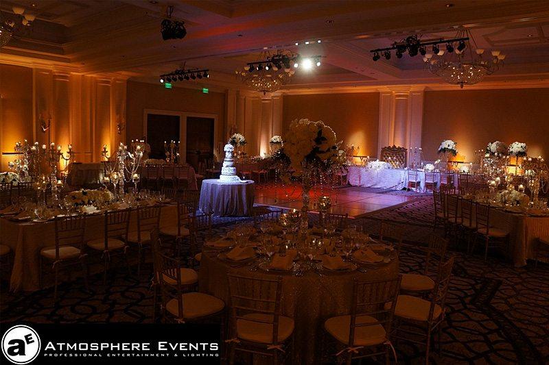 Reception lighting - Atmosphere Events Orange County