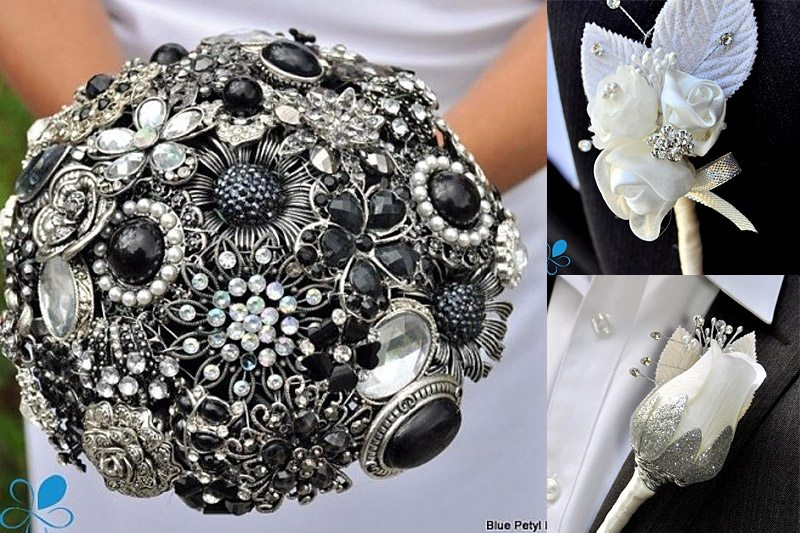 Brooch Vouquet - WeddingCompass.com