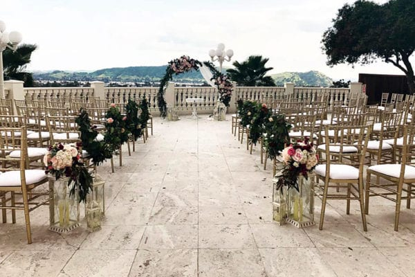Coco Palm Wedding Ceremony Setup - WeddingCompass.com