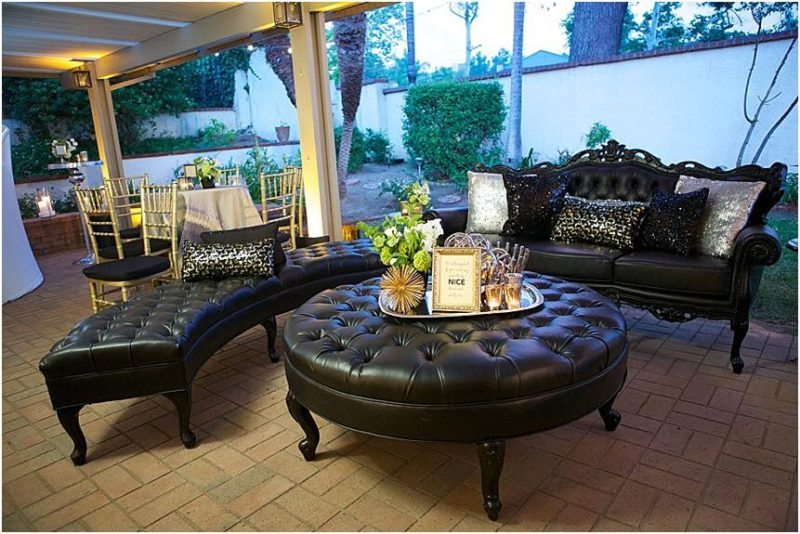 This setting showcases a baroque feel with a modern twist by using current accessories and textures in toss pillow you can change the style to make it current. - Kevin Covey - Christine Bentley - Reception Lounge
