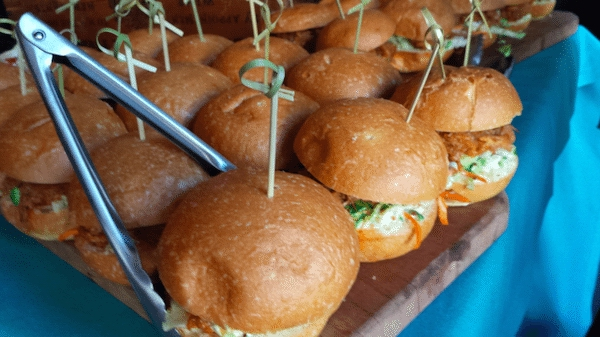 Smokey pulled pork sandwiches with coleslaw. Image provided by the Maritime Museum in San Diego - WeddingCompass.com