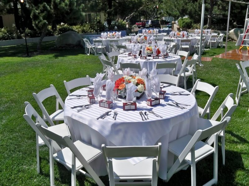 TurnipRose Table Setup Rehearsal Dinner - WeddingCompass.com