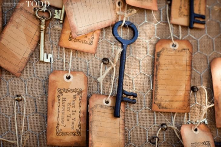 Old Keys with Tag - Christopher Todd Studios - WeddingCompass.com
