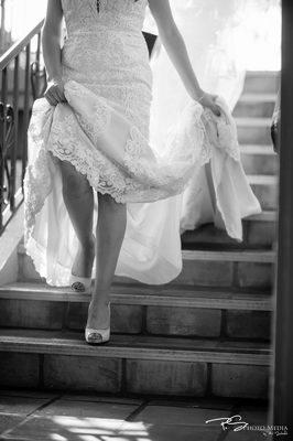 Justin & Christine - Real Wedding - WeddingCompass.com