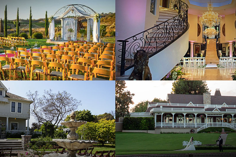 Romance of a Mansion or Estate Wedding in Southern California