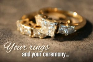 Your Rings and your ceremony - Clint Hufft - WeddingCompass.com