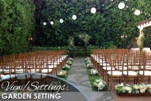 View-Setting-Garden Setting - WeddingCompass.com