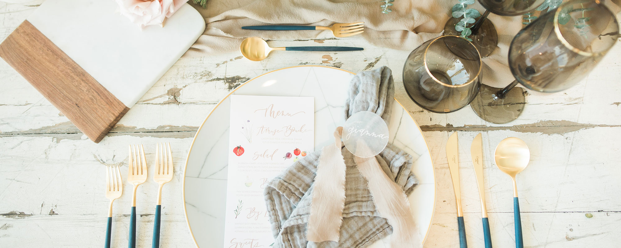 Huntington Bay Club - Place Setting - WeddingCompass.com