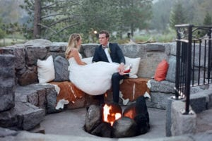 Lake Tahoe Wedding & Honeymoon - Fireplace - WeddingCompass.com - squawcreek_wedding_firepit_bridegroom - WeddingCompass.com - Design the Wedding