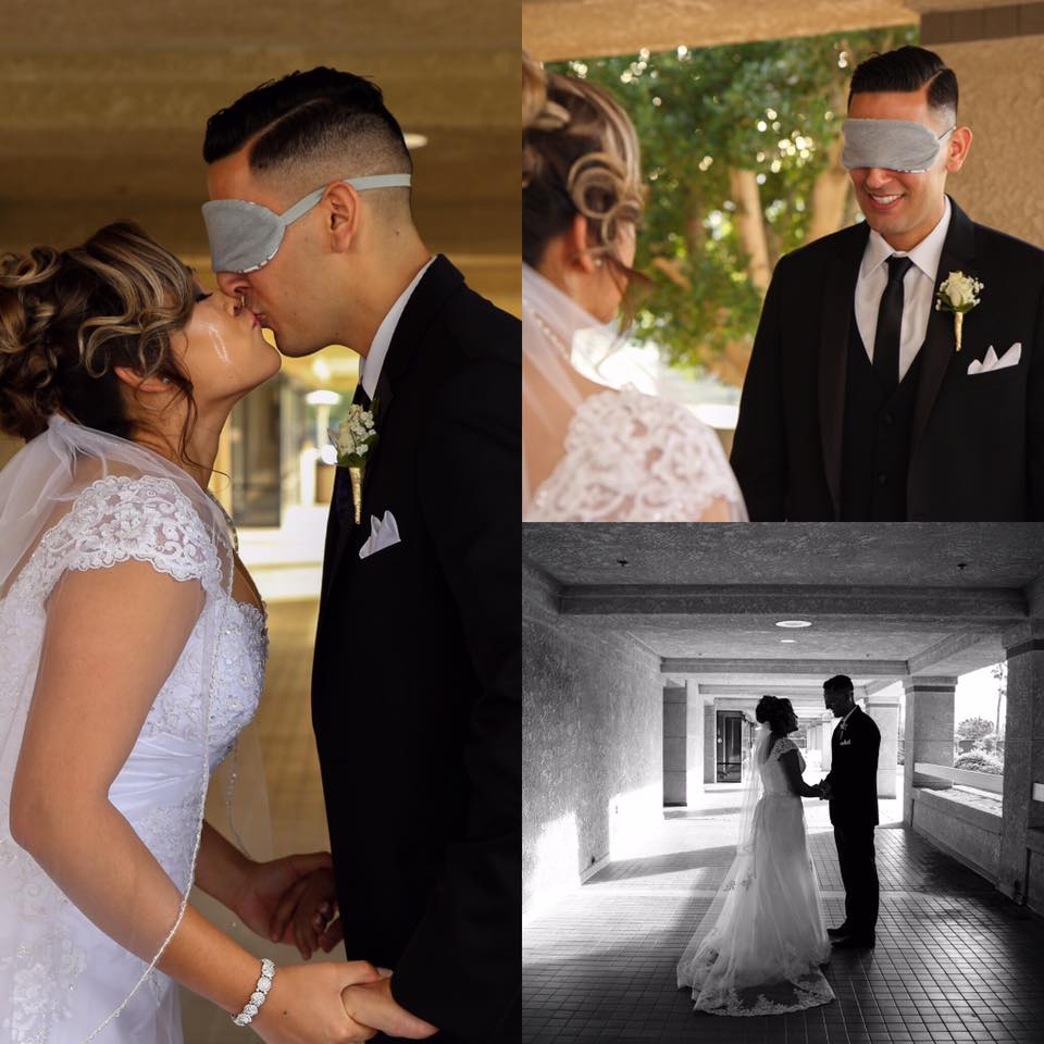 See each other first time-blindfold-emotion picture studio - WeddingCompass.com