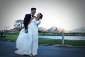Alyssa and Josh - Real Wedding - Godfather Films - WeddingCompass.com
