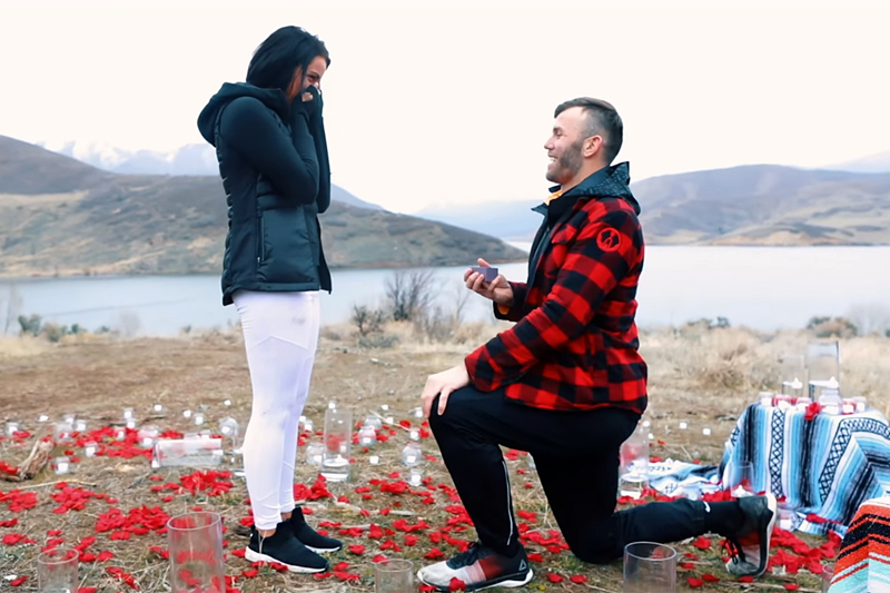 proposal - weddingcompass.com - THE MOST EPIC PROPOSAL EVER!!! (WORLD'S LONGEST ZIPLINE) FEATURED