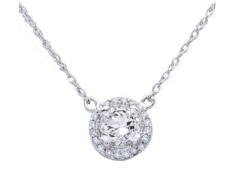 halo_pendant - Intercontinental Jewelers - WeddingCompass.com