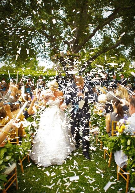 Michael-Jonathan-Studios - Wedding Exit - Confetti - WeddingCompass.com