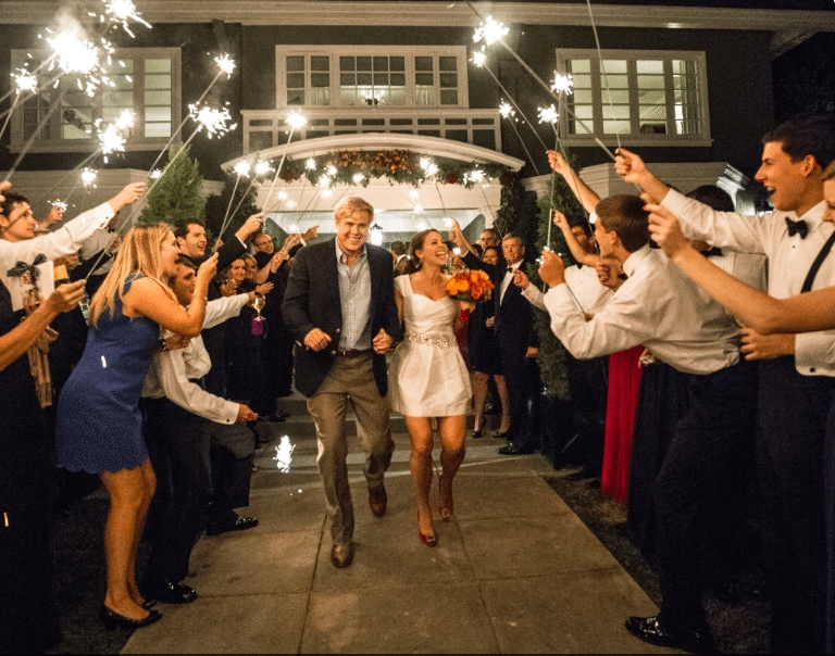 Sparkling Send Off Image provided by Robert Evans Photography - WeddingCompass.com