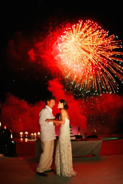 Send up the fireworks Image provided by Robert Evans Studios - WeddingCompass.com